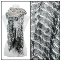 Scarves - Crinkle Checkered 648 - White
