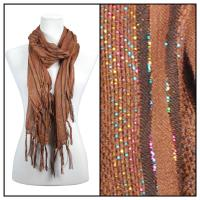 Scarves - Metallic Striped 3114 - Brown