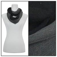 Infinity Scarves - Two-Tone 207 - Black-Grey