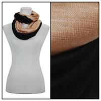 Infinity Scarves - Two-Tone 207 - Black-Beige