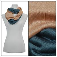Infinity Scarves - Two-Tone 207 - Beige-Blue