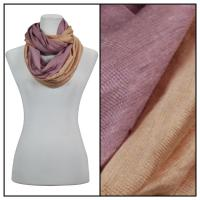 Infinity Scarves - Two-Tone 207 - Beige-Purple