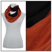 Infinity Scarves - Two-Tone 207 - Black-Orange