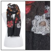 Scarves - Flower Pom Pom 2013 - Black