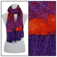 Scarves - Flower Pom Pom 2013 - Purple