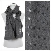 Scarves - Scalloped Edge Mohair Style  4069 - Grey