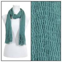 Scarves - Crochet Mesh Tubed 4073 - Green