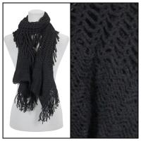 Scarves - Crochet Fishnet Tubed 4083 - Black