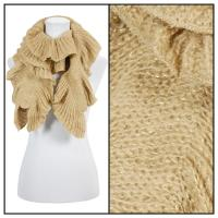 Scarves - Ruffle Knit Metallic 4085 - Beige