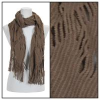 Scarves - Abstract Weave 4101 - Brown