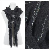 Scarves - Ruffle Knit w/ Lurex Sparkle 4113 - Black