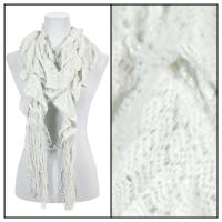 Scarves - Ruffle Knit w/ Lurex Sparkle 4113 - Light Grey