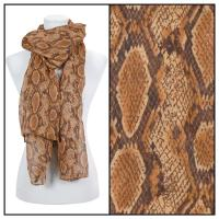 Scarves - Reptile Print 4116 - Brown