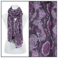Scarves - Reptile Print 4116 - Purple