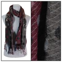 Scarves - Flowers and Dots 8138 - Charcoal