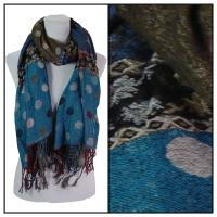 Scarves - Flowers and Dots 8138 - Olive