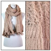 Scarves - Crochet Wave 4068 - Beige