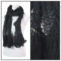 Scarves - Crochet Wave 4068 - Black