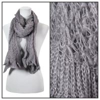 Scarves - Crochet Wave 4068 - Grey