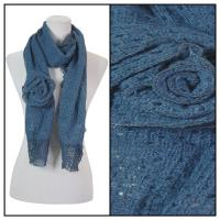 Scarves - Bohemian Flower #3 4081 - Blue