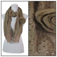 Scarves - Bohemian Flower #3 4081 - Brown