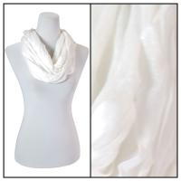 Infinity Scarves - Cotton/Silk Blend 100 - White