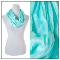 Infinity Scarves - Cotton/Silk Blend 100 - Mint