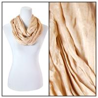 Infinity Scarves - Cotton/Silk Blend 100 - Champagne