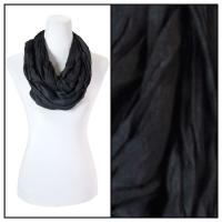 Infinity Scarves - Cotton/Silk Blend 100 - Black