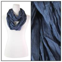 Infinity Scarves - Cotton/Silk Blend 100 - Navy Denim