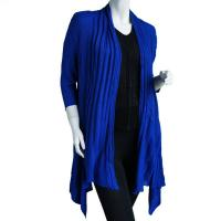 Magic Convertible Long Ribbed Sweater - Royal