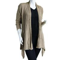 Magic Convertible Long Ribbed Sweater - Champagne