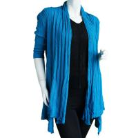 Magic Convertible Long Ribbed Sweater - Turquoise