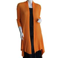 Magic Convertible Long Ribbed Sweater - Orange Coral