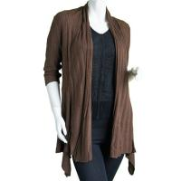 Magic Convertible Long Ribbed Sweater - Brown