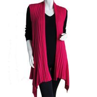 Magic Convertible Long Ribbed Sweater Vest - Magenta