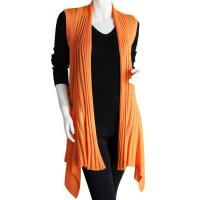 Magic Convertible Long Ribbed Sweater Vest - Orange Coral