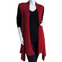 Magic Convertible Long Ribbed Sweater Vest - Winterberry