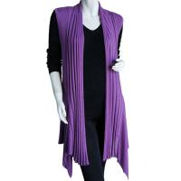 Magic Convertible Long Ribbed Sweater Vest - Dusty Grape