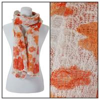 Scarves - Crochet Flower 3097 - Beige