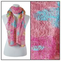Scarves - Crochet Flower 3097 - Rose