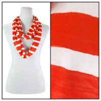 Infinity Scarves - Striped 7366 - Orange
