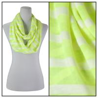 Infinity Scarves - Striped 7366 - Neon