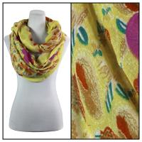 Infinity Scarves Wide - Polyester 1017 - Flower Border - Yellow