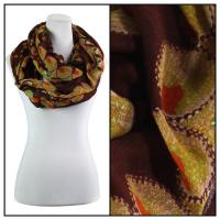 Infinity Scarves Wide - Polyester 1017 - Flower Border - Brown