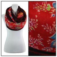 Infinity Scarves Wide - Polyester 1017 - Vintage Border - Red