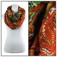 Infinity Scarves Wide - Polyester 1017 - Large Paisley - Orange
