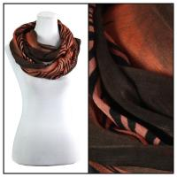 Infinity Scarves - Zebra Print 724  - Brown