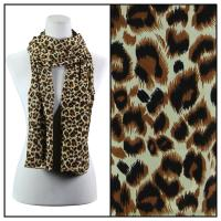 Scarves - Leopard Print 3162 - Brown