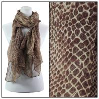 Scarves - Small Print Reptile 4117 - Brown